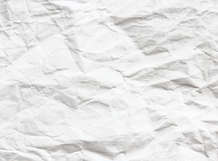 Crumpled white sheet  Paper background photo