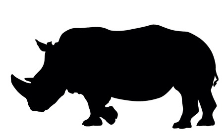 Rhino silhouette. Vector illustration. EPS 8 Vector