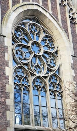 church window: Ancient church window. Lviv