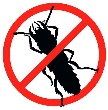 Bug vector silhouette isolated  Insect repellent emblem Vector