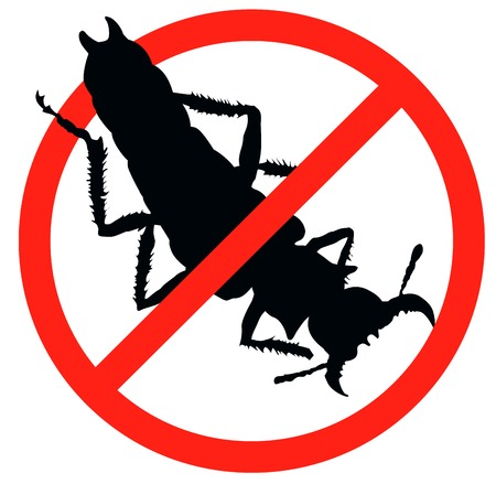 Bug vector silhouette isolated  Insect repellent emblem Stock Vector - 24196227