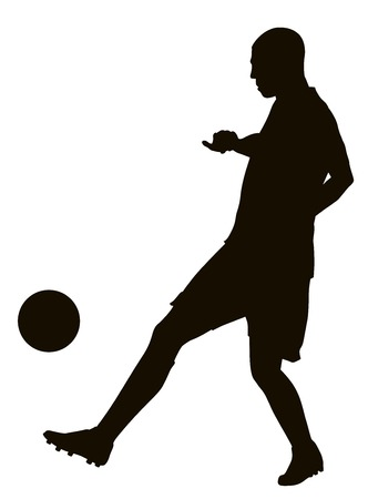 Soccer player detailed vector silhouette. Sports design Illustration