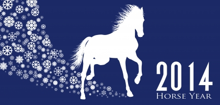 Horse  Year 2014 design  Vector