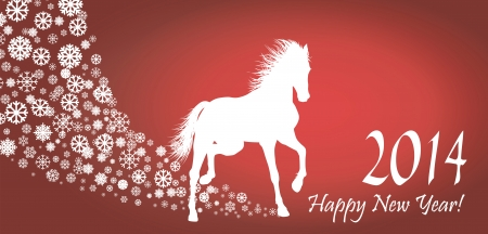 Horse  Year 2014 design  Vector