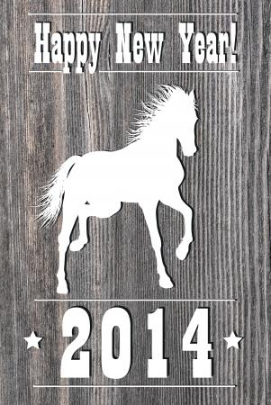 2014 Wooden Horse  Year design  Illustration illustration