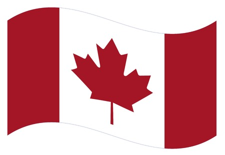 canadian flag: Waving flag of Canada isolated. Vector EPS8