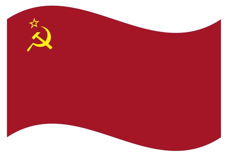 Waving flag of USSR isolated.  Vector