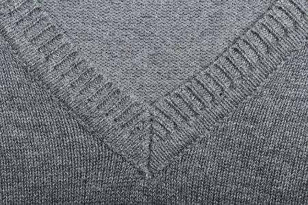 v neck: Pullover v-neck texture. Clothes concept Stock Photo