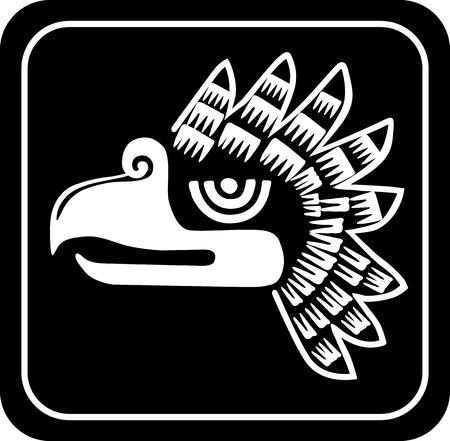 condor: Ancient tribal symbols. Vector