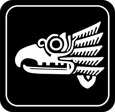animal ritual: Ancient tribal symbols. Vector