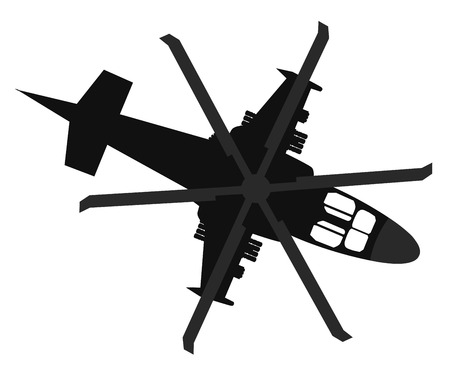 military aircraft: Military helicopter silhouette.