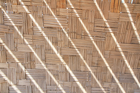 diagonal stripes: Bamboo wattled texture with sunlight diagonal stripes