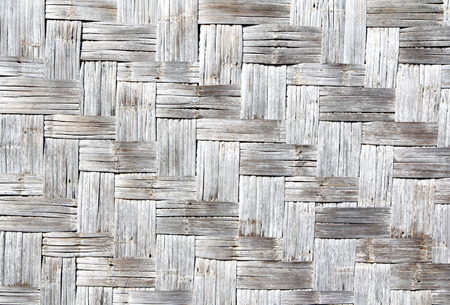 wattled: Bamboo wattled texture. Natural backgrounds Stock Photo