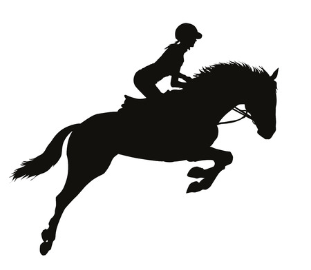 Rider on a horseback Stock Illustratie
