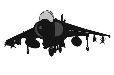 military aircraft: Military aircraft taking off Illustration