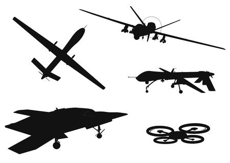 Weapon drones set.