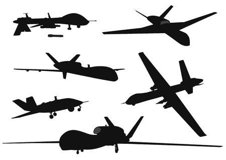 Weapon. Drones set Ilustrace