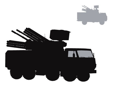 howitzer: Vector warfare Illustration