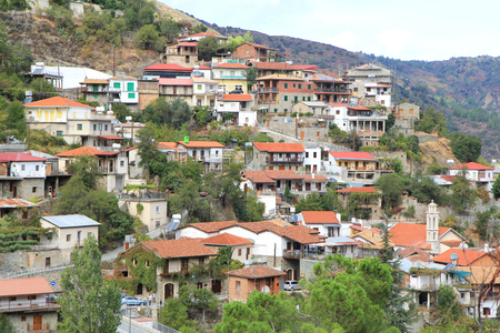 mediterranian houses: Mediterranian village situated on a mountain hill
