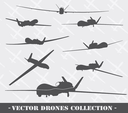 Weapon. Drones set Illustration