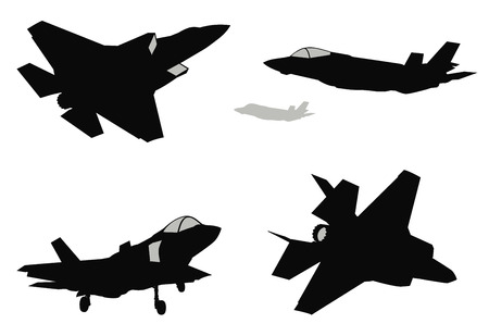 Vector fighters set Stock Illustratie