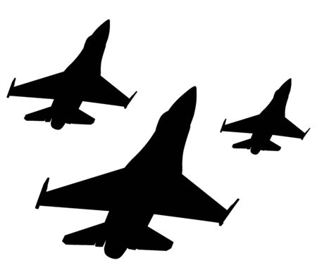 Airpower. Vector fighters Vector Illustration