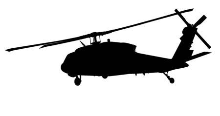 Silhouette vecteur hélicoptère Vecteurs