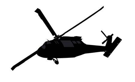 Helicopter vector silhouette