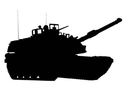 Tank detailed silhouette. Vector EPS 10