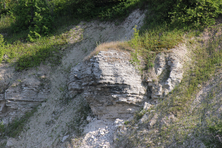 ledge: the rocky ledge