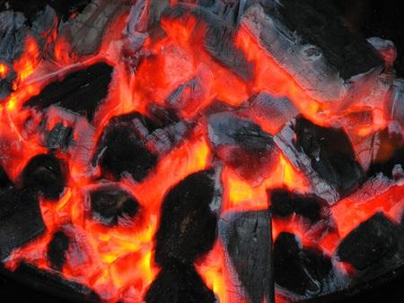 broil: charcoals