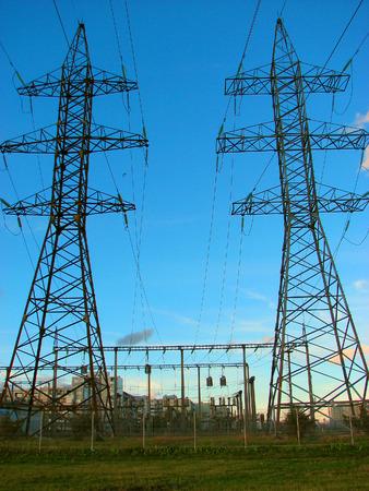 electricity pylones photo