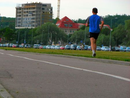 male running photo