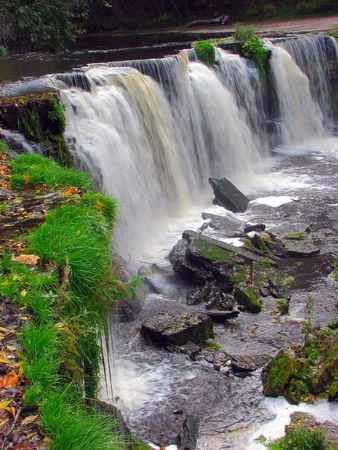 joa: Beautiful Autumn Waterfall in Keila Joa Estonia
