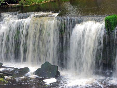 joa: beautiful waterfall in keila joa estonia Stock Photo