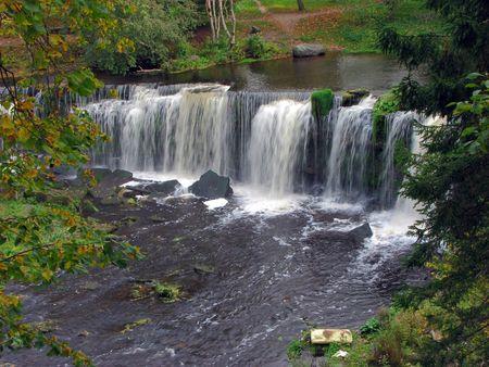 joa: view at  Keila joa waterfall, estonia Stock Photo