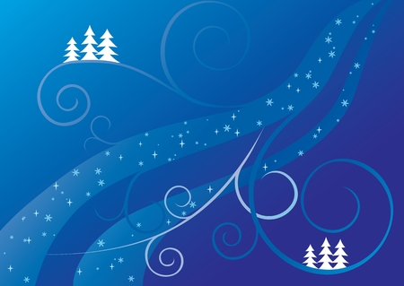 blue and white christmas background Illustration