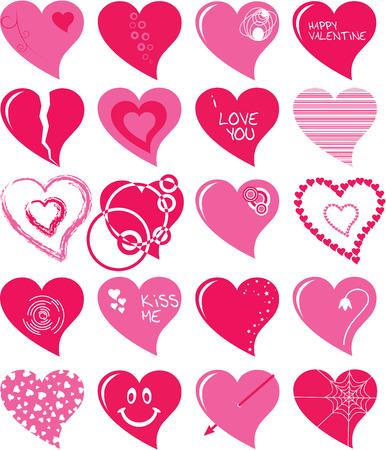 heart set Stock Vector - 2429011