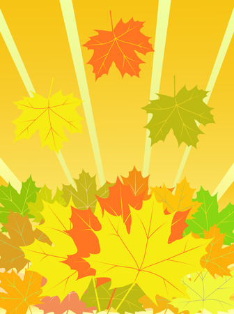 autumn vector background Illustration