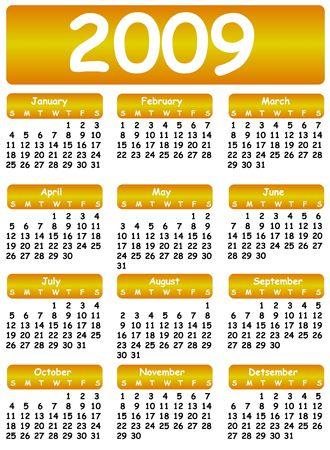 almanac: vector calendar 2009