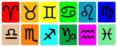 Zodiac Icon Set colour photo