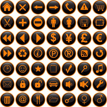 icons set vector  Illustration
