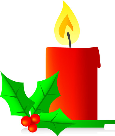 christmas candle vector illustration Vector
