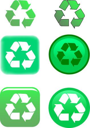 recycle symbol vector: Recycle Symbol Vector Illustration
