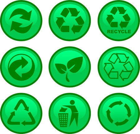 environment and recycle icons Stock Vector - 4189436