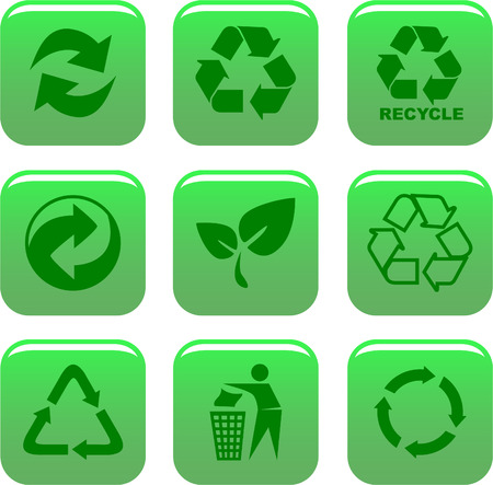 environment and recycle icons Vector