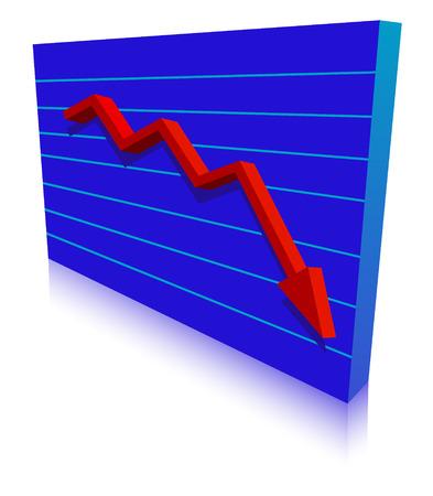 Business Failure graph down arrow