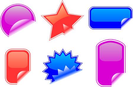 Vector stickers Vector