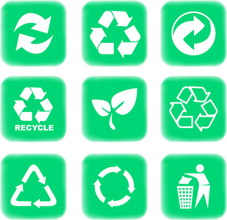 environment and recycle icons Stock Vector - 4488271