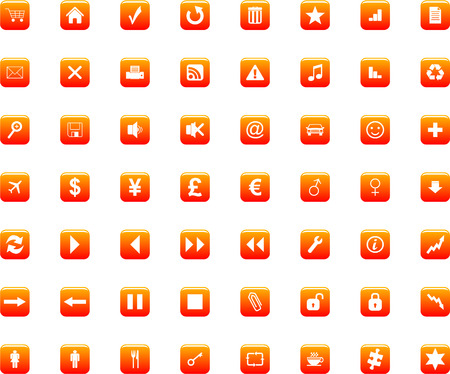 icons set vector Vector